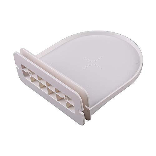 KEHUITONG Soporte portátil Organizador Estante de la Pared de Montaje for Amazon Eco Dot 3 2 Altavoces for Google Mini Inicio/Google WiFi teléfonos Inteligentes de Seguridad (Color : Blanco)