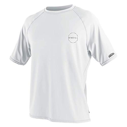 O'Neill Men's 24-7 Traveler UPF 30+ Short Sleeve Sun Shirt, White, L