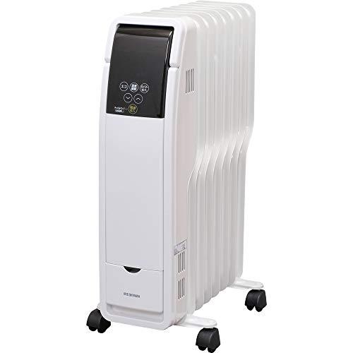 アイリスオーヤマ オイルヒーター タイマー付 3段階 温度調節機能 8畳用 ホワイト POH-S1208M-W