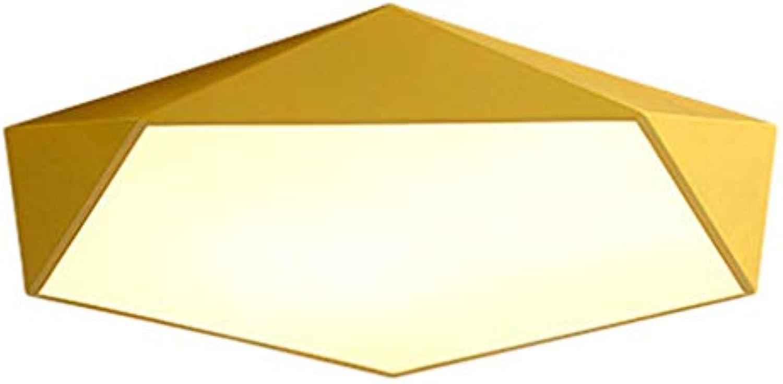 LED Deckenleuchte Dimmbar, Modern Kreative Design Deckenlampe Geometrie Macaron Deckenleuchten Wohnzimmerlampe Schlafzimmerlampe Innenbeleuchtung Lampen,18WDiam40cm