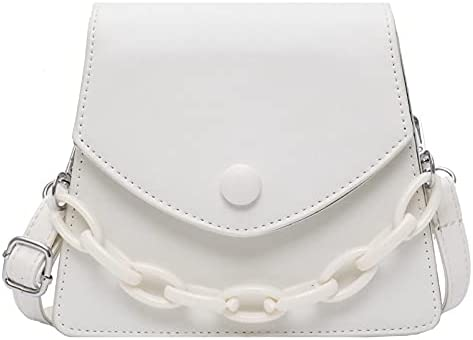 zyylppylw Challenge the lowest price of Japan Shoulder Bags Solid Color New Orleans Mall Leather Chain Thick PU Small