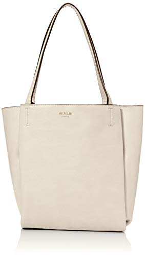 Bessie London Damen Vintage Bucket Tassel Shoulder Bag Schultertasche, Beige, 8x29x22 Centimeters