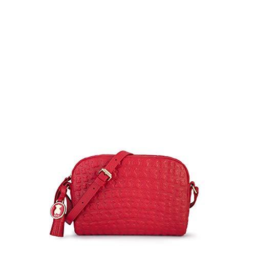 TOUS Sherton, Bolso bandolera para Mujer, Rojo (Rojo 995890536), 19x14x5 cm (W x H x L)