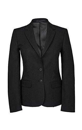 GREIFF Damen-Blazer, Regular Fit, 8403, schwarz, Größe 48