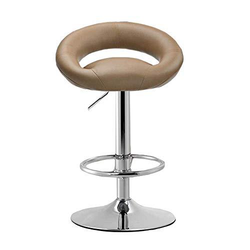JIEER-C vrijetijdsstoelen verstelbare draaibare barkruk gasveer voetensteun 360 graden draaibaar hoogteverstelbaar duurzaam sterk bruin