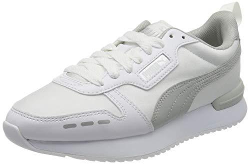 PUMA R78 Wn's Metallic, Zapatillas Mujer, Blanco White/Gray Violet Silver, 37 EU