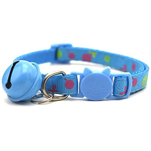JHGJHG Collar de Gato Collar de Perro de Nylon Ajustable campanario Perrito Perrito Cuello Cuello (Color : Blue One, Size : A01)