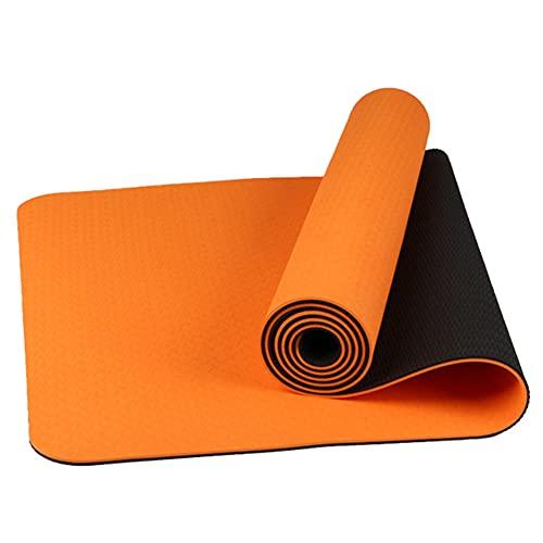 POMNEFE Estera de Yoga Antideslizante de Doble Cara de TPE de Dos Colores de 6 MM, Estera de Baile para niños sin Sabor, Estera de Ejercicio para Gimnasio