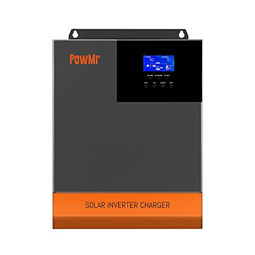 All-in-ONE Hybrid Solar Charger Inverter 48V 3500W Output 110Vac Off Grid Solar Inverter, 48V Inverter Built-in 80amp Mppt Controller Support Lead-Acid Lithium Battery Solar Power Utility Generator
