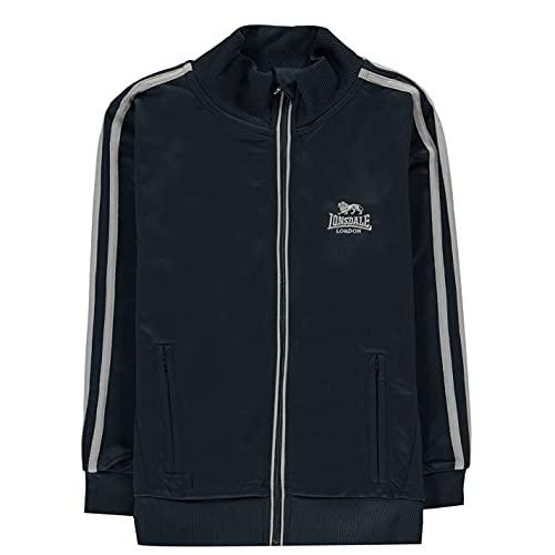 Lonsdale Kinder Jungen Trainingsjacke Sportjacke Jacke Streifen Detail Marineblau/Grau 13 Jahre XL