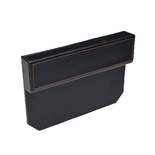 Kwak's Aufbewahrungsbox für Auto PU Leder Konsole Autositz Seitentasche Universal Car Organizer Seat Catcher Gap Filler-schwarz