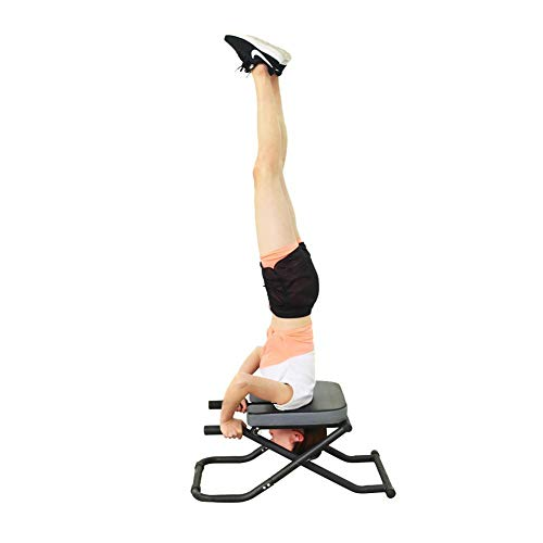 Great Price! IMSHI Yoga Headstand Bench- Stand Yoga Chair for Family, Gym - Wood and PU Pads - Relie...