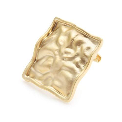 GJongie Broschen Frauenbrosche Brosche Gold Silber Farbe Quadrat Kondom Broschen Frauen Party Brosche Pins Geschenke-Gold