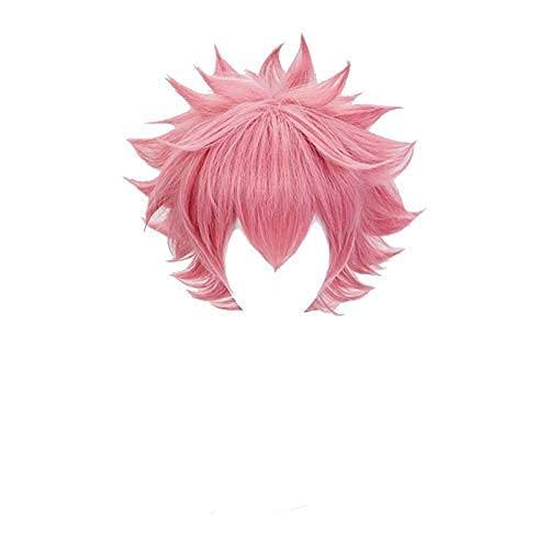 Seupeak My Hero Academia Mina Ashido Mujer Peluca Pink Cosplay Costume Boku No Hero Academia Pelucas de Fiesta sintéticas Resistentes al Calor