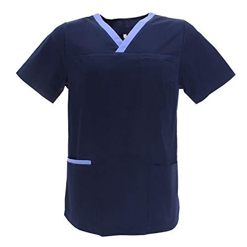 MISEMIYA - Casaca Unisex MÉDICO Enfermera Uniforme Limpieza Laboral ESTÉTICA Dentista Veterinaria Sanitario HOSTELERÍA - Ref.G713