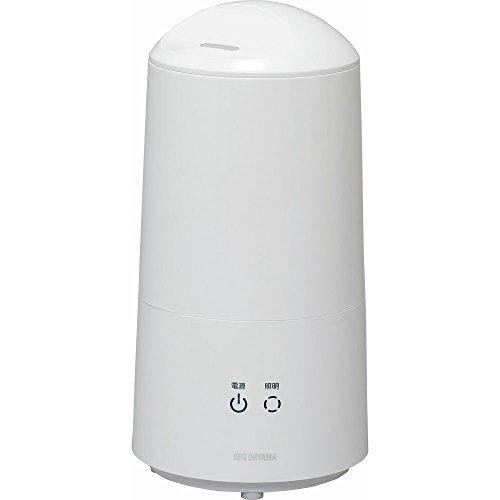 アイリスオーヤマ 加湿器 卓上 超音波式 樽型 LEDライト 抗菌ビーズ タッチセンサー ホワイト UHM-280B-W