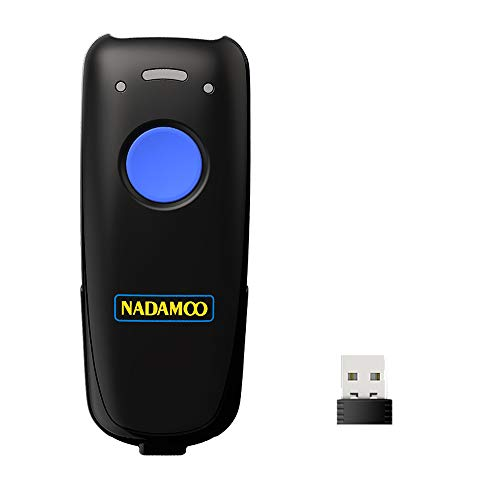 NADAMOO Wireless Barcode Scanner Bluetooth Compatible, 2.4G Wireless & Wired 3-in-1 Bar Code Scanner Portable USB CCD Image Reader, Support Screen Scan, for Tablet iPhone IPad Android Windows Mac