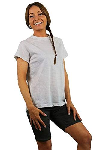 Antiwave EMF Clothing EMF Shielding T-Shirt (Male, Medium) Chest 38-40 Inches White