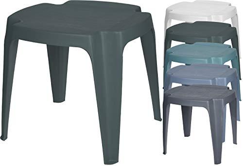 Fair-Shopping Hocker Sitzhocker Gartenhocker Beistelltisch stapelbar Kunststoff 43x38x38cm Variation (Anthrazit)