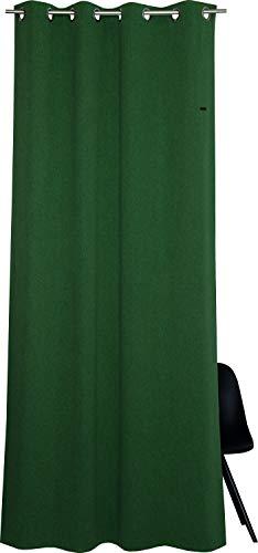 ESPRIT Ösen Vorhang grün Blickdicht • Gardinen Vorhang 2er Set • Ösenschal 140 x 250 cm Harp • 100% Polyester