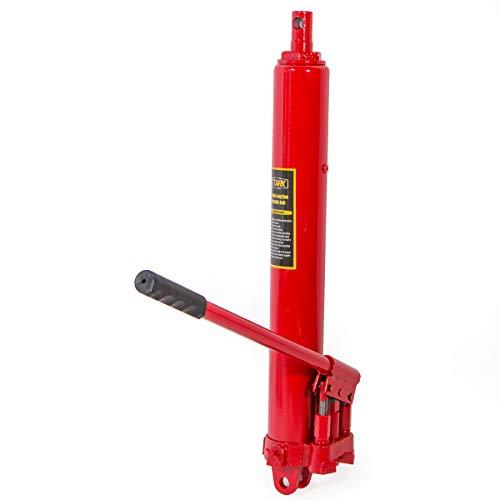 8 Ton Hydraulic Air Long Ram For Engine Hoist Bottom Adapter Plate Crane Jack