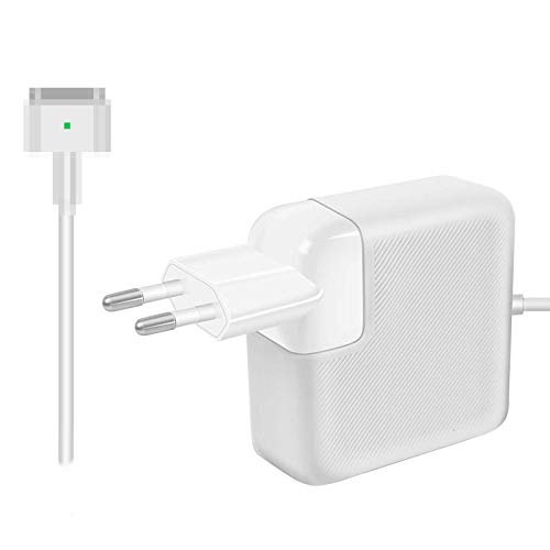 AndMore Cargador Compatible con MacBook Pro/Air 85W, Cargador MacBook, 2 Forma de T Adaptador de Corriente Funciona con los Macbook 45W/60W/85W-13 15' 17'-Cargador para MacBook Mediados
