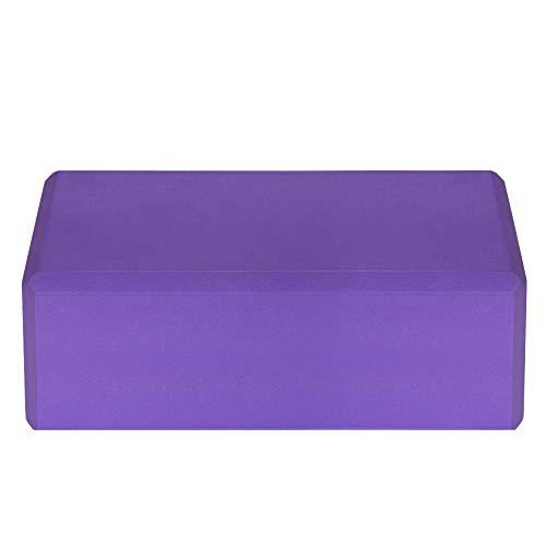 Lixada 1PCS / 2PCS EVA Yoga Blocks,Bloque de Espuma Correa Superficie Antideslizante sin Látex para la Meditación Yoga Pilates (Púrpura, 2Pcs)