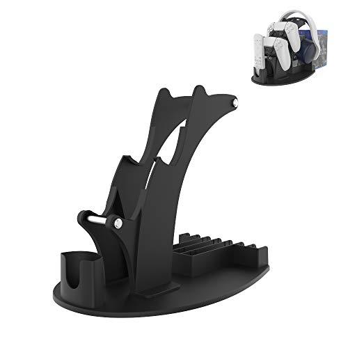 Soporte de mesa para Playstation 5, compatible con controlador, auriculares y mando...