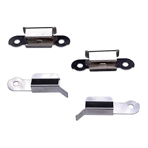 iplusmile 4pcs Hot Bed Glass Platform Fixation Clamps Glass Clip 3D Printer to Fix Printer Glass Bed Platform Stainless Steel 3D Printer Accessories