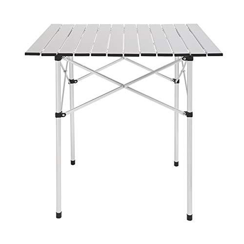 SCLTQ Mesa de camping portátil plegable para jardín, mesa de picnic, marco de aluminio, 70 cm, para interior y exterior, para fiestas, picnic, camping, barbacoa/fiestas en el hogar