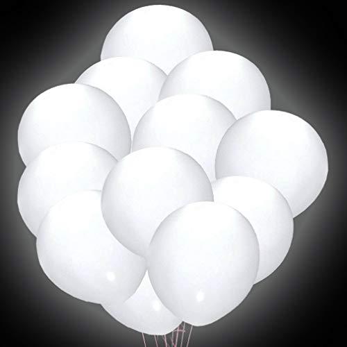 UPSTONE LED Luftballons,40 Stücke Leuchtende Weiß Ballons für Hochzeit Party/Geburtstag/Festival/Weihnachten Dekoration