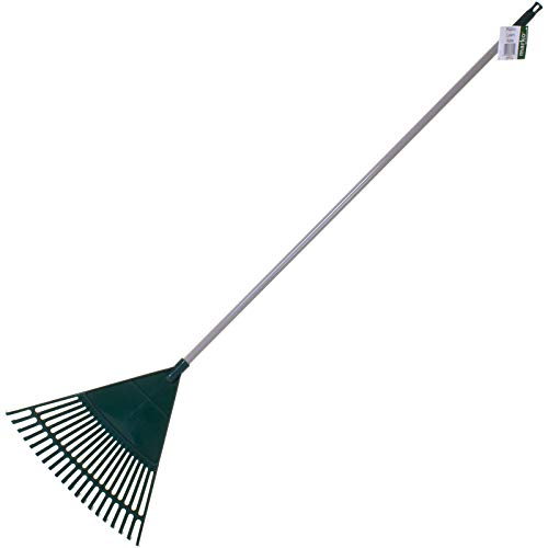 Marko Gardening 20 Tooth Plastic Lawn Rake Garden Outdoor Grass Cuttings...