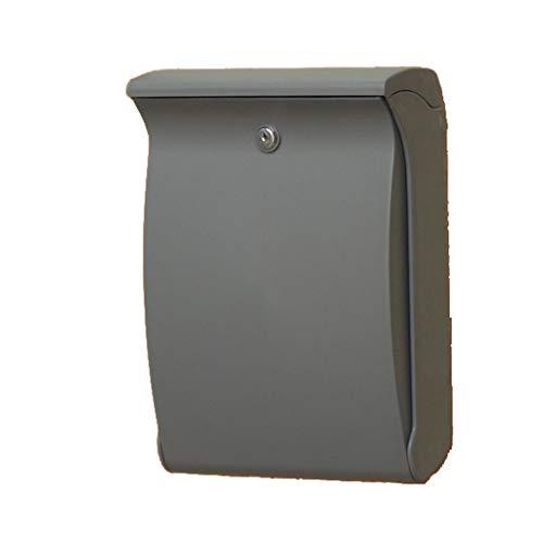 Brievenbus brievenbus - ABS-kunststof, outdoor-UV-bescherming, duurzaam, niet verblekende brievenbus, geschikt voor villetjes, terrassen, huizen - in drie kleuren verkrijgbare muurbrievenbussen grijs