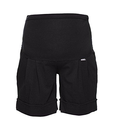 Be! Mama Umstandshose, Shorts für Schwangere, hochwertige Baumwolle, Modell: Sawyer (Marco), schwarz, XL