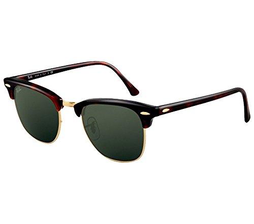 Ray-Ban RB3016 Clubmaster Sunglasses(49 mm,Tortoise Frame Solid Black G15 Lens)Ê