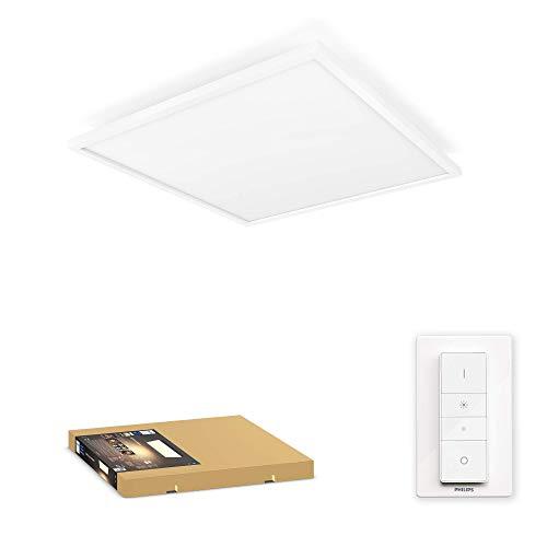 Philips Hue – Lámpara inteligente, Hue Aurelle, Panel LED Inteligente, Luz Blanca de Cálida a Fría, Compatible con Alexa y Google Home, Color Blanco