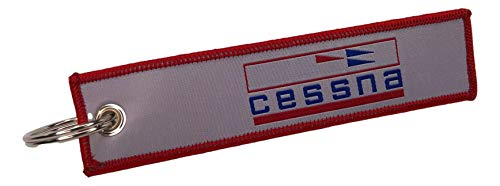 Cessna Classic - Pilot Aviation Key Chain - Cessna Aircraft - Woven Key Tag - Aircraft Airplane Cessna