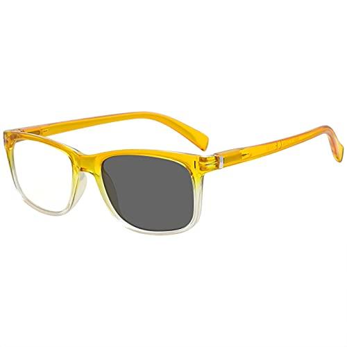Eyekepper Transition Reading Glasses Photochromic Readers Men Women Yellow +2.25