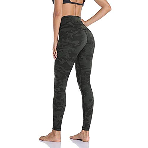 OutTop High Waisted Leggings for Women Tummy Control Butt Lifting Skinny Yoga Pants Stretch Sliming Workout Booty Tights (Camouflage, S)