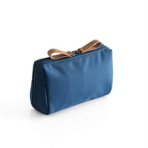 Beibaobao 1 Pc solido trucco cosmetico Bag stile coreano donne Pouch Bag toilette sacchetto impermeabile trucco dell'organizzatore di caso di Dropshipping (Color : Blue)