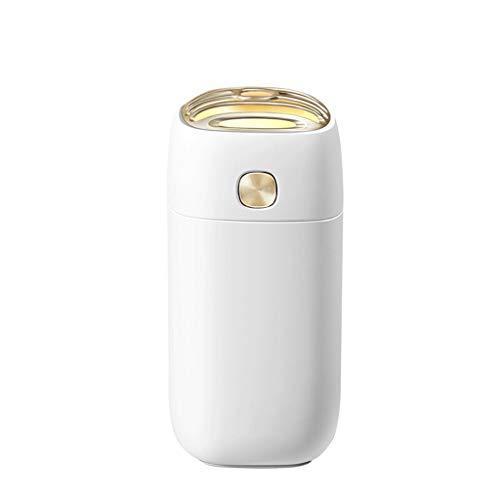 Humidificador 260ml portátil humidificador, Mini humidificador de vapor frío con luz de la noche, USB humidificador personal Cerrado automáticamente, ultra silencioso, 2 Pulverizar modos, adecuado for