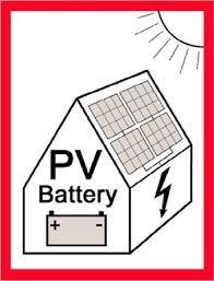 "PV-Aufkleber 5er Pack -\""PV & Battery\"" / AKTION!"