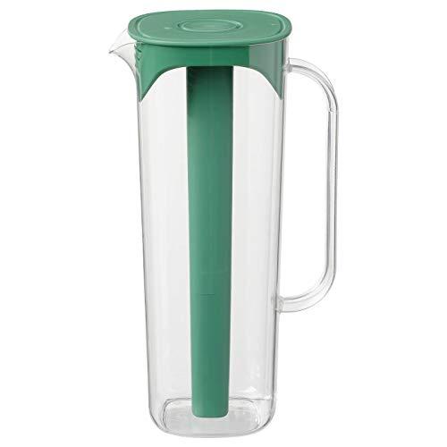 Krug mit Deckel, grün, transparent, aufgebaut: Höhe: 28 cm, Inhalt: 1,7 l