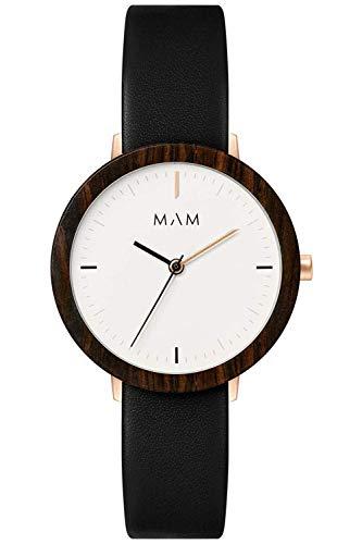Mam originals Damen Uhr analog Japanisches Quarzwerk mit Leder Armband FERRA 632