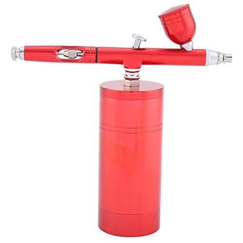 Mini airbrushpistool - set airbrush compressor set 7 CC capaciteit 0,3 mm zwart of rood Rood