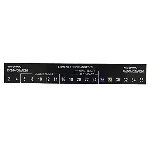 MAGT 5 stuks plakken op de wenkbrauwthermometer, het brouwen van de thermometer-strip, zelfklevende lcd-thermometer-stickers voor homebrew-bier, thee en wenkbrauwen