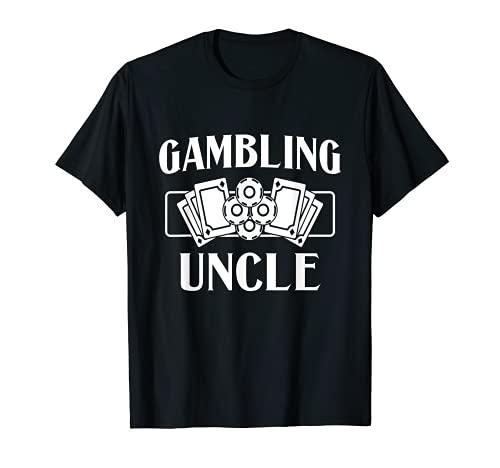 Hombre Casino Slot Machine Poker Tarjetas Fichas Jugador Juego Tío Camiseta