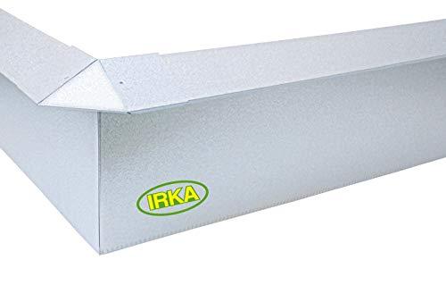 IRKA Schneckenzaun Typ2 Metall Set 10m + 4 Ecken | Schneckenblech mit Versteifungskante | Schneckenzaun verzinkt | Schneckenabwehr Metall | Schneckenschutz giftfrei | Schnecken Hochbeet
