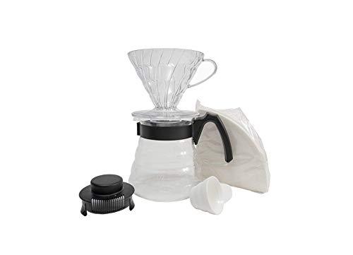 Hario koffiemolen, Clear And Black, 2 cup