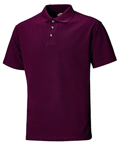 Dickies SH21220 BY 3XL Maat 3X-Large Polo-Shirt - Bordeaux Rood Tuniek M Bourgondy